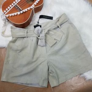 Talbots Leather High Waisted Shorts 12